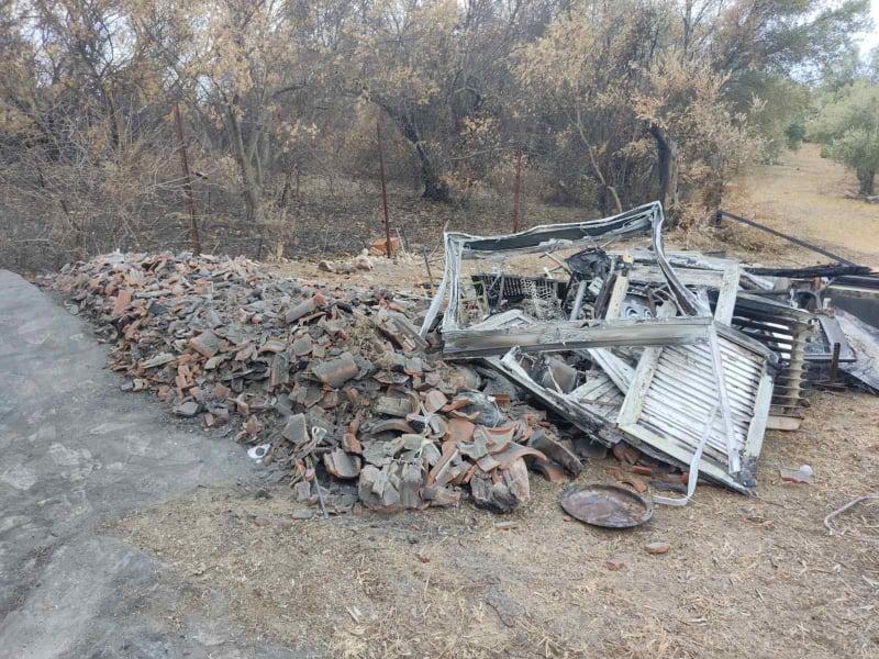 Καταστροφές από τις πυρκαγιές στην Βόρεια Εύβοια
