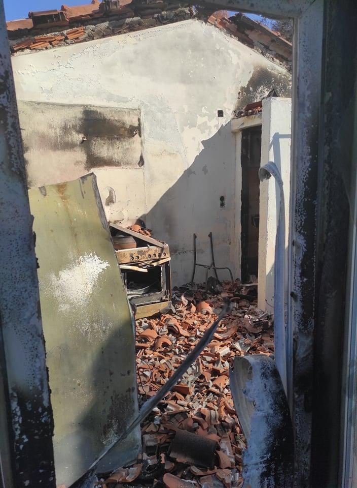 Καταστροφές στην Β. Εύβοια από τις πυρκαγιές