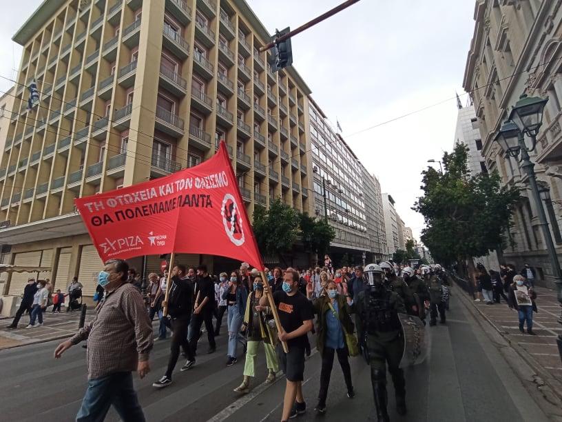 Η Νεολαία ΣΥΡΙΖΑ στην αντιφασιστική διαδήλωση